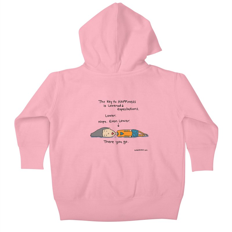 The Key to Happiness Kids Baby Zip-Up Hoody by superartgirl's Artist Shop