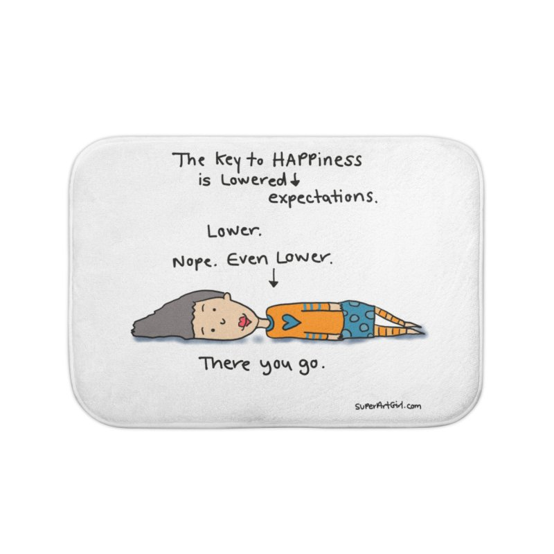 The Key to Happiness Home Bath Mat by superartgirl's Artist Shop