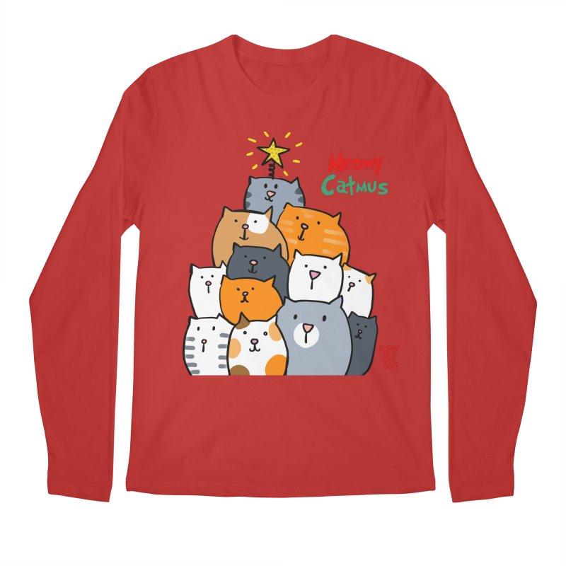 Meowy Catmus Men's Longsleeve T-Shirt by superartgirl's Artist Shop