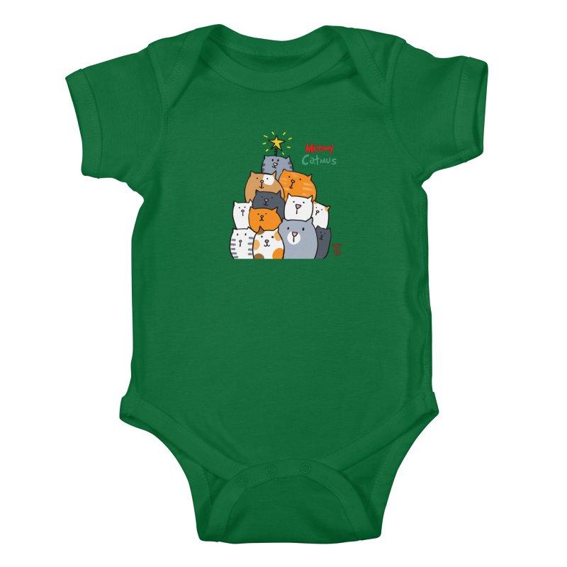 Meowy Catmus Kids Baby Bodysuit by superartgirl's Artist Shop
