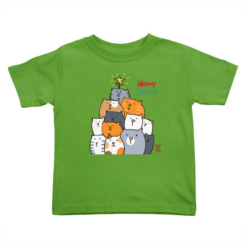 Meowy Catmus Kids Toddler T-Shirt by superartgirl's Artist Shop