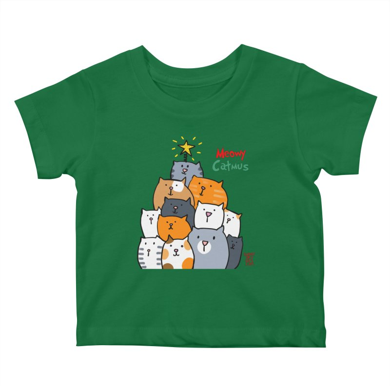 Meowy Catmus Kids Baby T-Shirt by superartgirl's Artist Shop