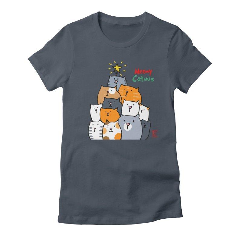 Meowy Catmus Women's T-Shirt by superartgirl's Artist Shop