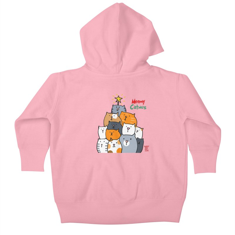 Meowy Catmus Kids Baby Zip-Up Hoody by superartgirl's Artist Shop