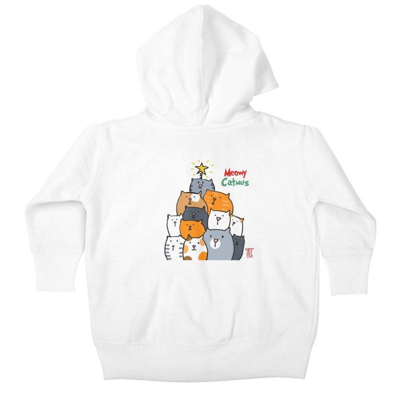 Meowy Catmus Kids Baby Zip-Up Hoody by superartgirl's Artist Shop