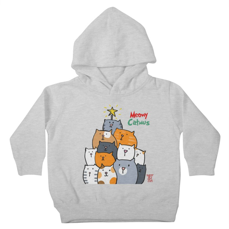 Meowy Catmus Kids Toddler Pullover Hoody by superartgirl's Artist Shop