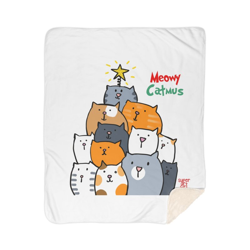 Meowy Catmus Home Blanket by superartgirl's Artist Shop