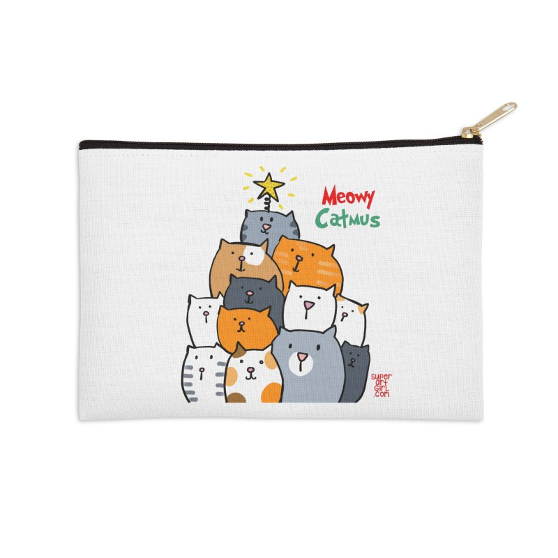 Meowy Catmus Accessories Zip Pouch by superartgirl's Artist Shop