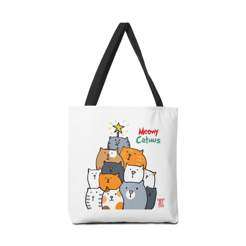 Meowy Catmus Accessories Bag by superartgirl's Artist Shop