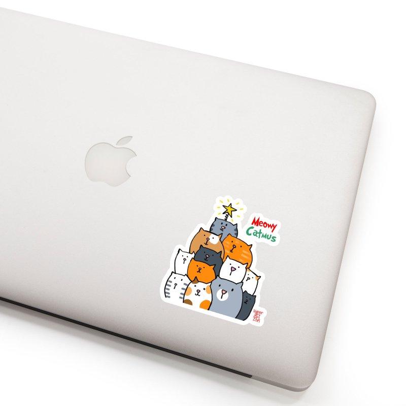 Meowy Catmus Accessories Sticker by superartgirl's Artist Shop