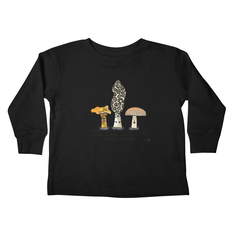 Morel Dilema Kids Toddler Longsleeve T-Shirt by superartgirl's Artist Shop
