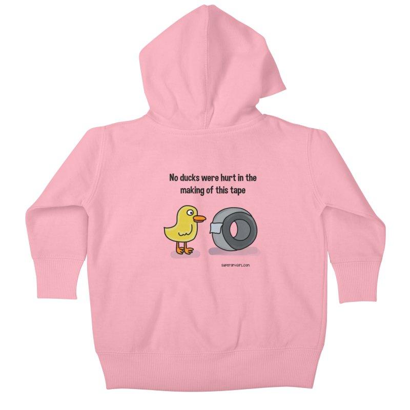 No Ducks Hurt Kids Baby Zip-Up Hoody by superartgirl's Artist Shop