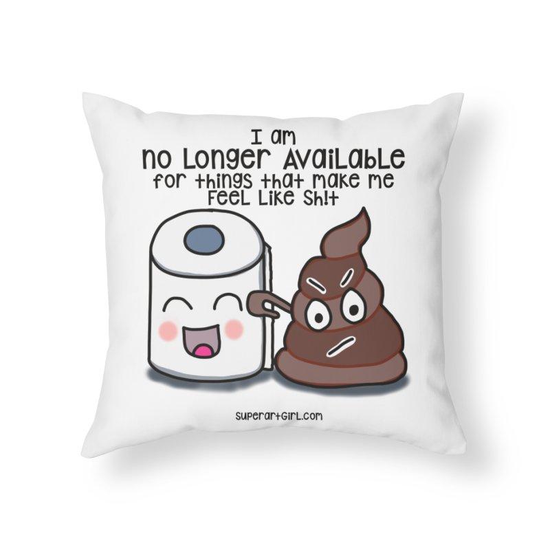 Poop Home Throw Pillow by superartgirl's Artist Shop