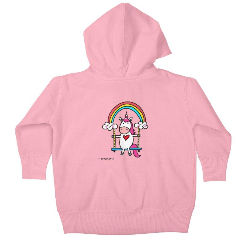 Rainbow Swing Kids Baby Zip-Up Hoody by superartgirl's Artist Shop