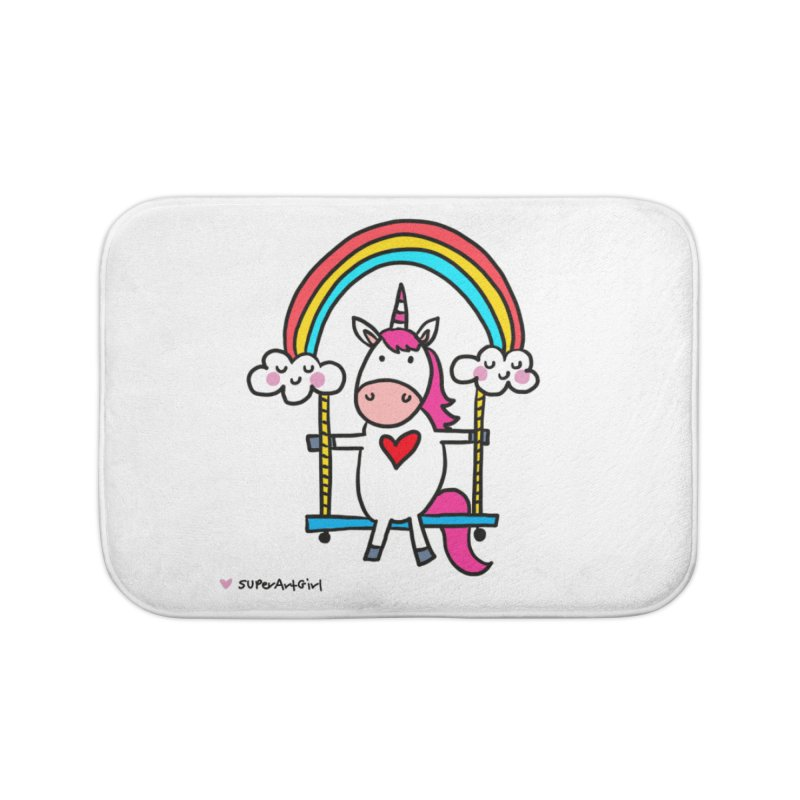 Rainbow Swing Home Bath Mat by superartgirl's Artist Shop