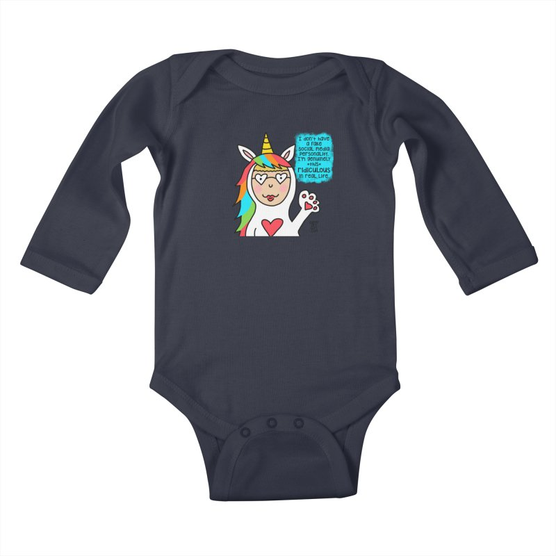 Social Media Kids Baby Longsleeve Bodysuit by superartgirl's Artist Shop