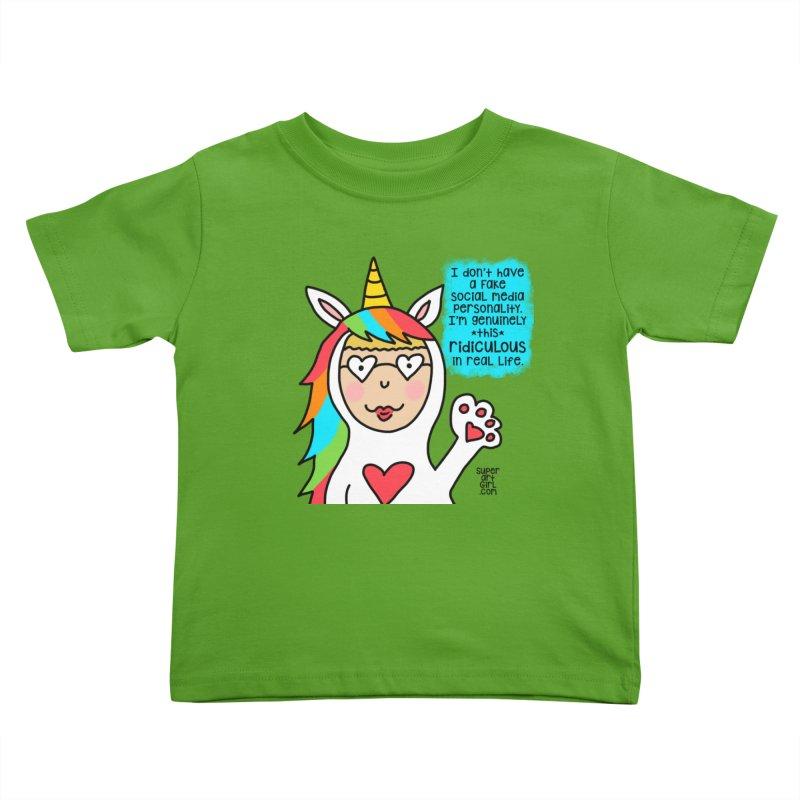 Social Media Kids Toddler T-Shirt by superartgirl's Artist Shop