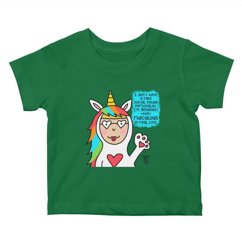 Social Media Kids Baby T-Shirt by superartgirl's Artist Shop