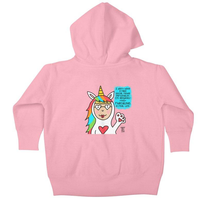 Social Media Kids Baby Zip-Up Hoody by superartgirl's Artist Shop