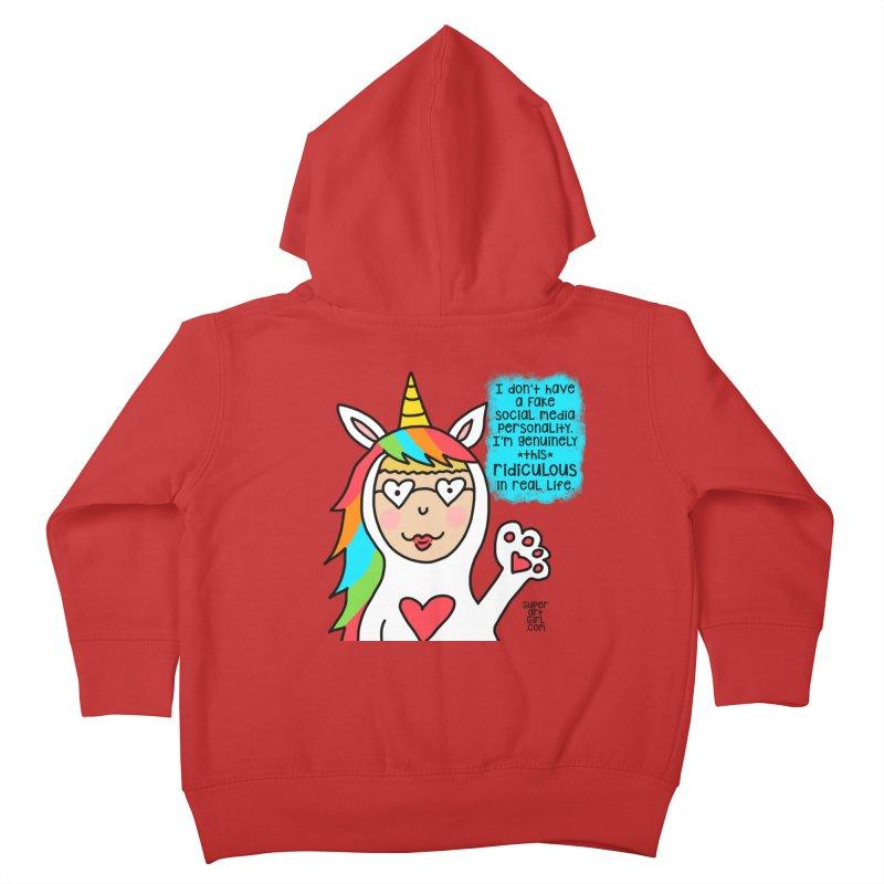 Social Media Kids Toddler Zip-Up Hoody by superartgirl's Artist Shop