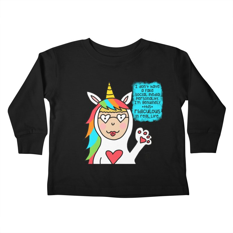 Social Media Kids Toddler Longsleeve T-Shirt by superartgirl's Artist Shop