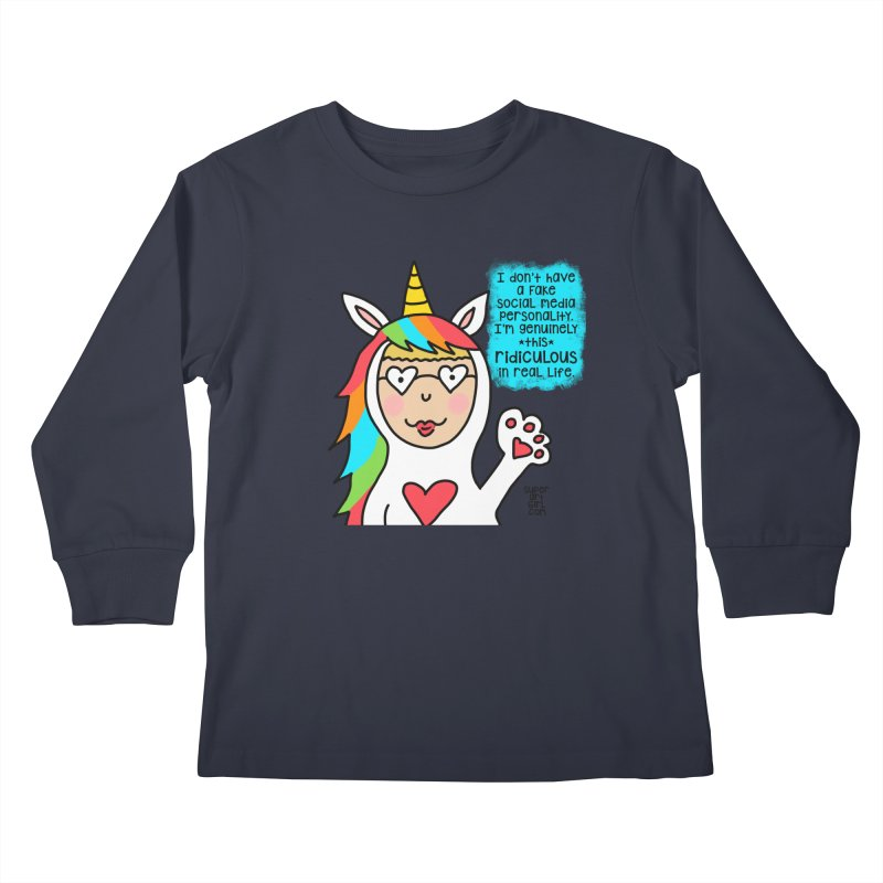 Social Media Kids Longsleeve T-Shirt by superartgirl's Artist Shop