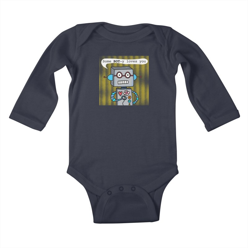 Bot Kids Baby Longsleeve Bodysuit by superartgirl's Artist Shop