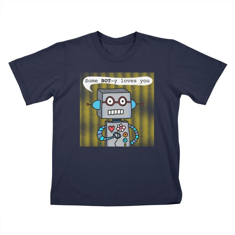 Bot Kids T-Shirt by superartgirl's Artist Shop