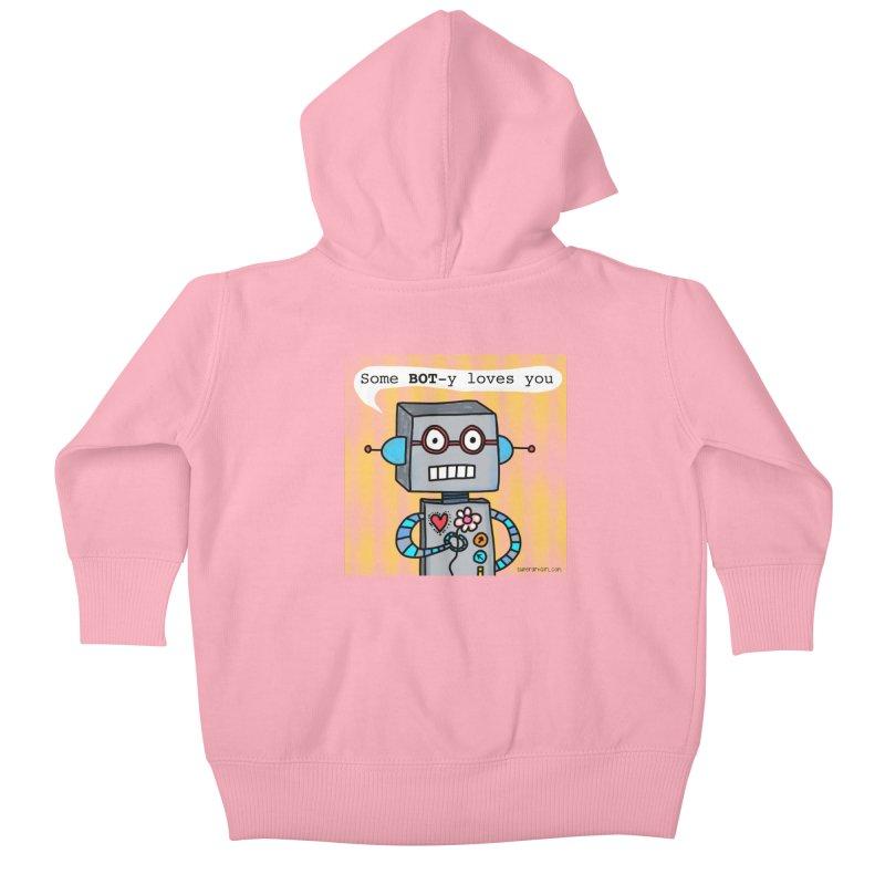 Bot Kids Baby Zip-Up Hoody by superartgirl's Artist Shop