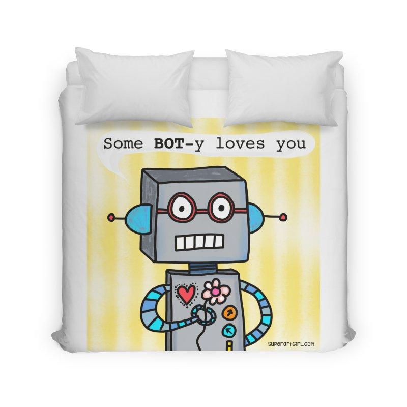 Bot Home Duvet by superartgirl's Artist Shop