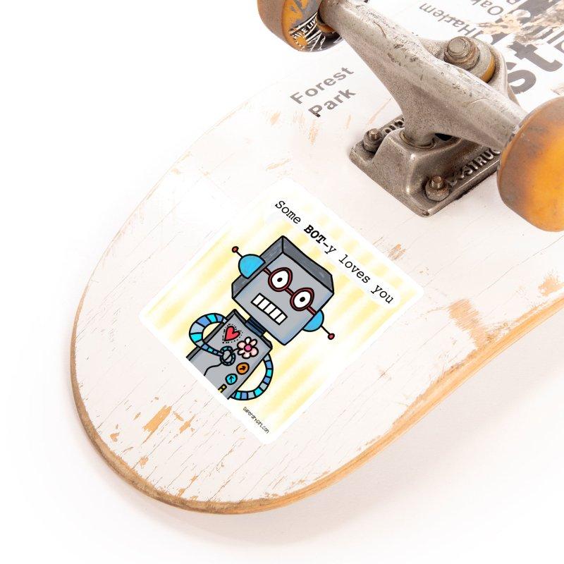 Bot Accessories Sticker by superartgirl's Artist Shop