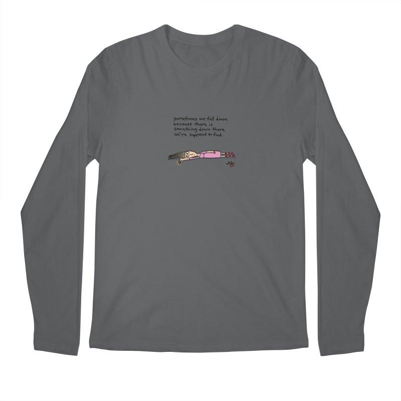 Sometimes We Fall Down Men's Longsleeve T-Shirt by superartgirl's Artist Shop