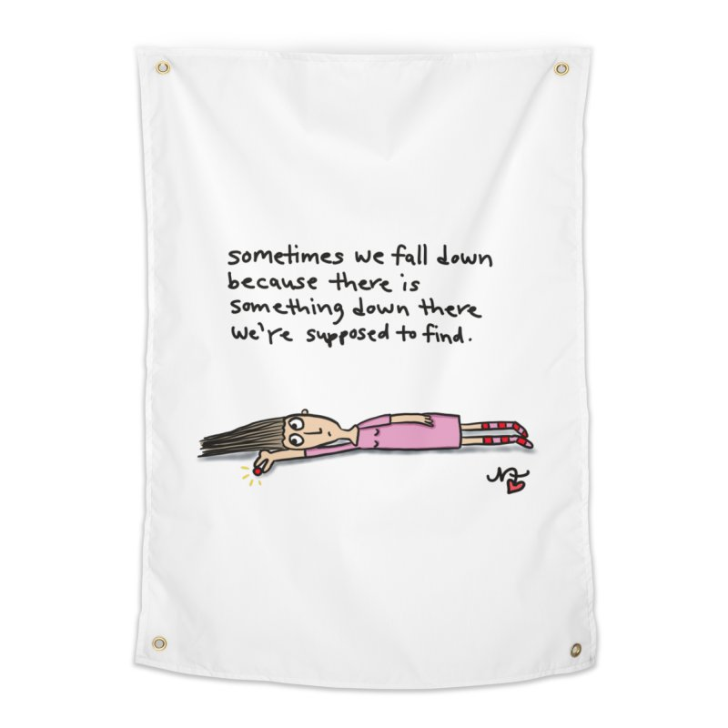 Sometimes We Fall Down Home Tapestry by superartgirl's Artist Shop