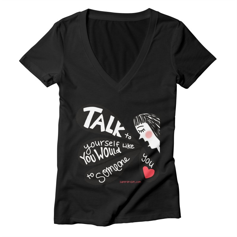 Talk to Yourself Women's V-Neck by superartgirl's Artist Shop