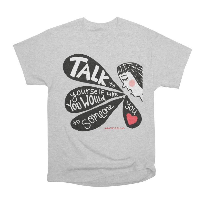 Talk to Yourself Men's T-Shirt by superartgirl's Artist Shop