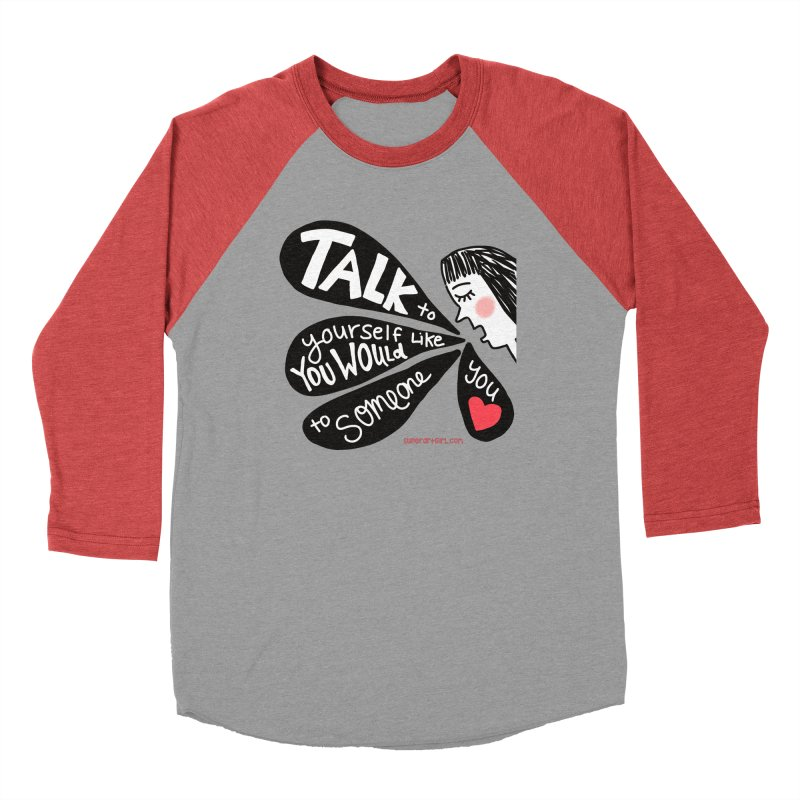 Talk to Yourself Men's Longsleeve T-Shirt by superartgirl's Artist Shop