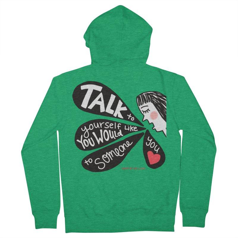 Talk to Yourself Men's Zip-Up Hoody by superartgirl's Artist Shop
