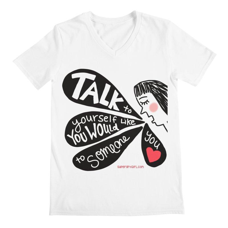 Talk to Yourself Men's V-Neck by superartgirl's Artist Shop