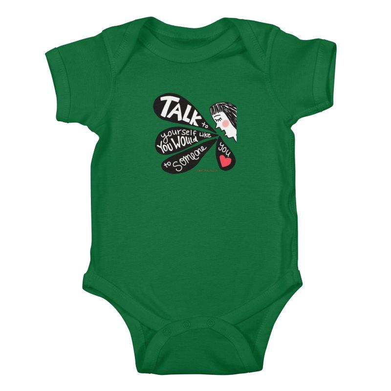 Talk to Yourself Kids Baby Bodysuit by superartgirl's Artist Shop