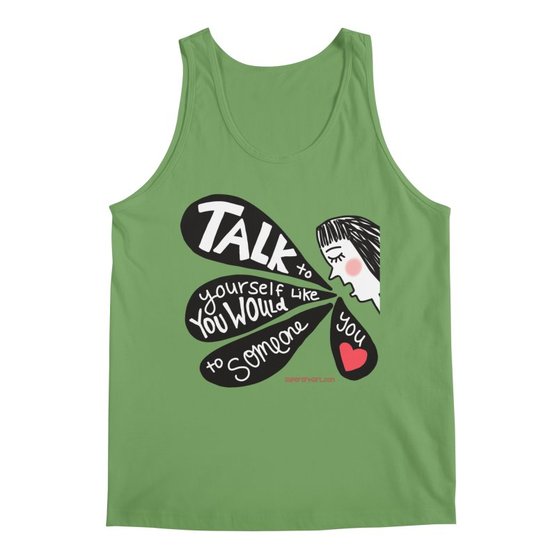 Talk to Yourself Men's Tank by superartgirl's Artist Shop