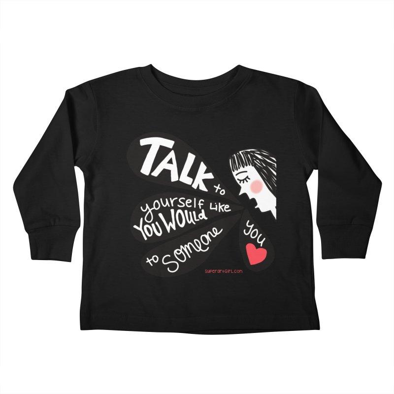 Talk to Yourself Kids Toddler Longsleeve T-Shirt by superartgirl's Artist Shop
