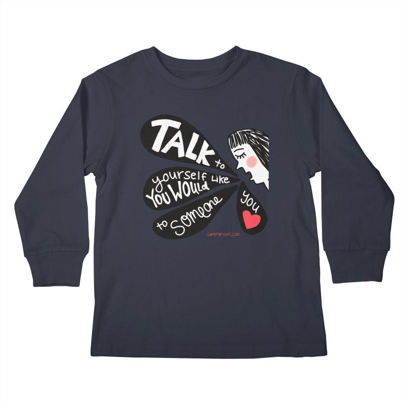Talk to Yourself Kids Longsleeve T-Shirt by superartgirl's Artist Shop