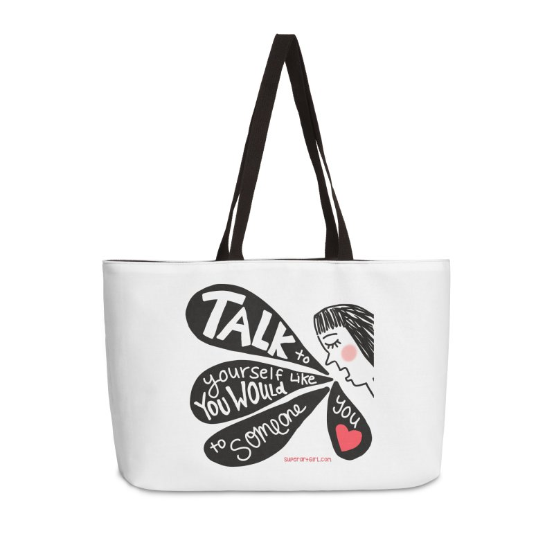 Talk to Yourself Accessories Bag by superartgirl's Artist Shop