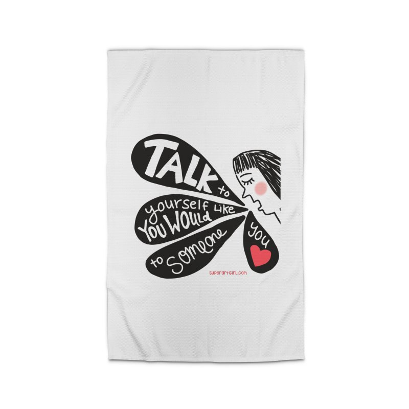 Talk to Yourself Home Rug by superartgirl's Artist Shop