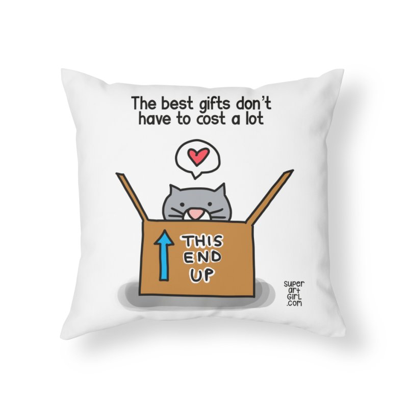 The Best Gifts Home Throw Pillow by superartgirl's Artist Shop