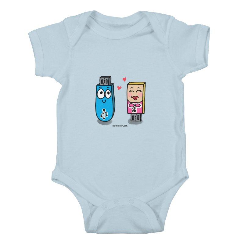 U-SB In Love Kids Baby Bodysuit by superartgirl's Artist Shop