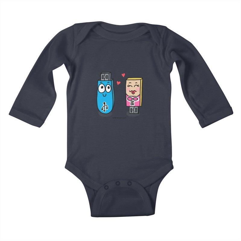 U-SB In Love Kids Baby Longsleeve Bodysuit by superartgirl's Artist Shop