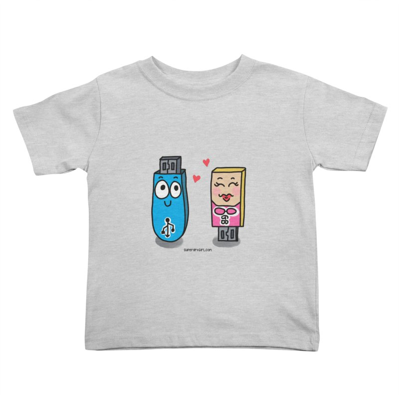 U-SB In Love Kids Toddler T-Shirt by superartgirl's Artist Shop