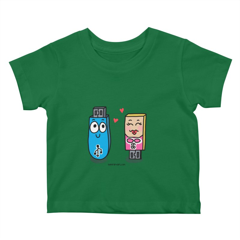 U-SB In Love Kids Baby T-Shirt by superartgirl's Artist Shop