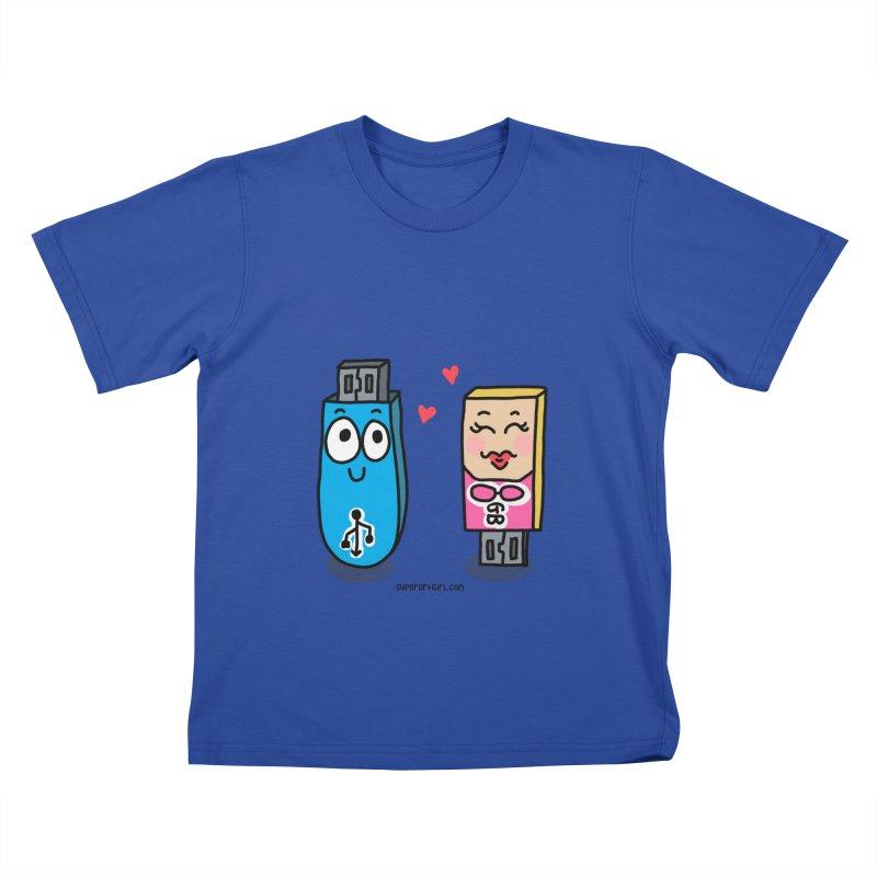 U-SB In Love Kids T-Shirt by superartgirl's Artist Shop